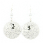 Adajio Silver Filigree Round Earrings