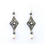Adajio Black and White Earrings