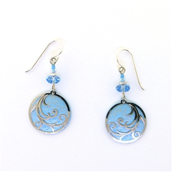 Adajio Blue and Silver Round Earrings
