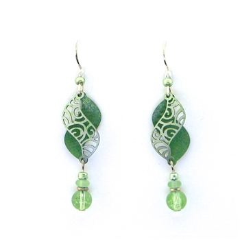 Adajio Green Swirl Earrings