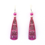 Adajio Light Pink Etched Earrings