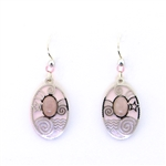 Adajio Light Pink and Silver Earrings