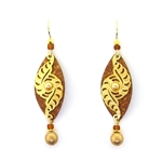 Adajio Copper and Gold Tone Earrings