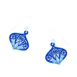 Adajio Midnight Blue & Aqua Teardrop with Rhinestone Earrings