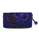 AMano Amethyst Flower Hmong Wallet