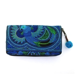 AMano Royal Seafoam Flower Hmong Wallet