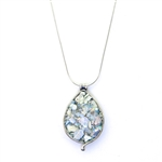 Angie Olami Roman Glass Tear Drop Necklace 730080