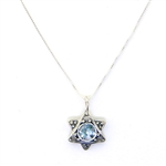 Angie Olami Roman Glass Star of David Necklace 750016