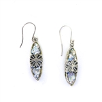 Angie Olami Earrings-Center Sterling Flower