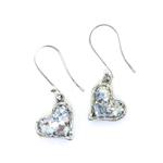Angie Olami Earrings-Hearts at Angle on Wire