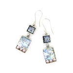 Angie Olami Earrings-Roman Glass, Blue Glass & Pearl Accents