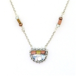 Angie Olami Necklace-Half Round Pendant with Copper