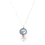 Angie Olami Roman Glass & Pearl Dangles Necklace 830092