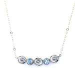 Angie Olami Roman Glass Spiral Necklace 830232