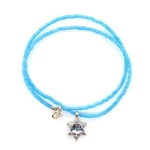 Angie Olami Necklace-Star of David on Blue Chain