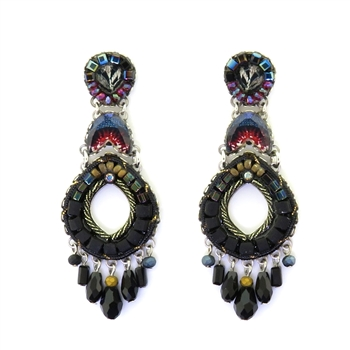 Ayala Bar Moon Jet Earrings C1163 Fall 2019