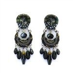 Ayala Bar Moon Jet Earrings C1168 Fall 2019