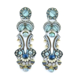 Ayala Bar Blue Velvet Earrings 11C1403 Fall 2020