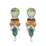 Ayala Bar Floral Bucket Earrings R1576 Spring 2021