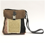 Baabaazuzu City Bag Cinnamon and Tan with Pink