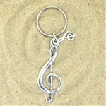 Basic Spirit Treble Clef Keychain