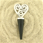 Basic Spirit Heart Swirl Wine Bottle Stopper
