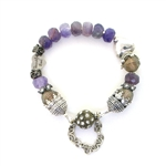 Beautiful Soul Amethyst Hearts Bracelet