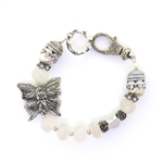 Beautiful Soul Butterfly Fairy Bracelet with Blush Chalcedony
