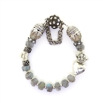 Beautiful Soul Labradorite Bracelet with Heart Charm