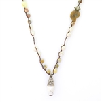 Beautiful Soul Conch Drop & African Opal Long Necklace