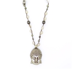 Beautiful Soul Big Buddha with Pyrite Necklace