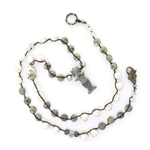 Beautiful Soul Mermaid Sea Goddess Pearls and Pyrite Necklace