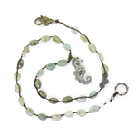 Beautiful Soul Sea Horse Necklace with Aquamarine