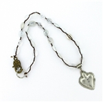 Beautiful Soul Silver Heart, Rutiliated Quartz, Dream-Love Bead Necklace