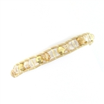 Chan Luu Clear Quartz & Gold Single Strand Bracelet