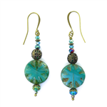 Christina Anastasia Bits of Bliss Turquoise Czech Glass Earrings