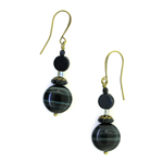 Christina Anastasia Bits of Bliss Black Czech Glass Earrings