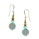 Christina Anastasia Bits of Bliss Aqua Gold Dot Earrings