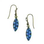 Christina Anastasia Bits of Bliss Blue Czech Glass Earrings