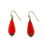 Christina Anastasia Red Teardrop Bit of Bliss Earrings