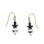 Christina Anastasia Bits of Bliss Black & White Czech Glass Earrings