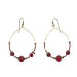 Christina Anastasia Red Czech Glass Swarovski Earrings