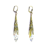 Christina Anastasia Drops of Joy Clear Crystal Aurora Borealis Earrings