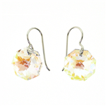 Christina Anastasia Clear Aurora Borealis Moons Swarovski Crystal Earrings