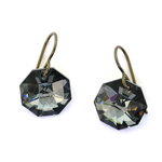Christina Anastasia Midnight Moons Swarovski Crystal Earrings