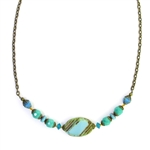 Christina Anastasia Bits of Bliss Turquoise Czech Glass Necklace