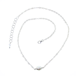 Christina Anastasia Sterling Silver Single Pearl Necklace