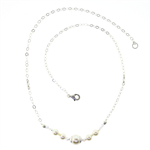 Christina Anastasia Sterling Silver Multi Pearl Necklace