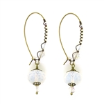 Christina Anastasia Frosted Czech Glass Nomad Earrings