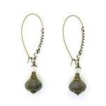 Christina Anastasia Gray Czech Glass Nomad Earrings